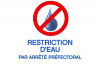 Restrictions en eau.